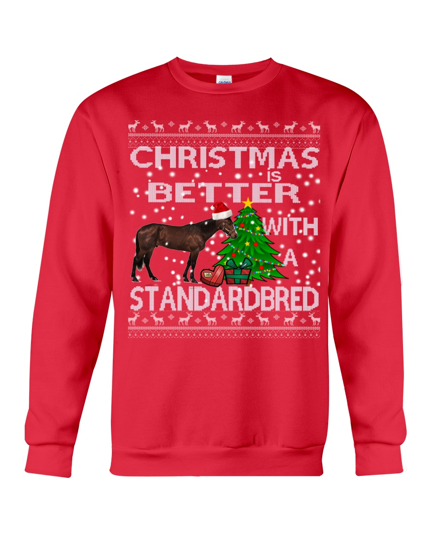 Christmas Is Better With A Standardbred Crewneck Sweatshirt