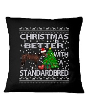 Christmas Is Better With A Standardbred Square Pillowcase thumbnail