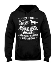 Crazy Mustang Horse Lady Hooded Sweatshirt thumbnail