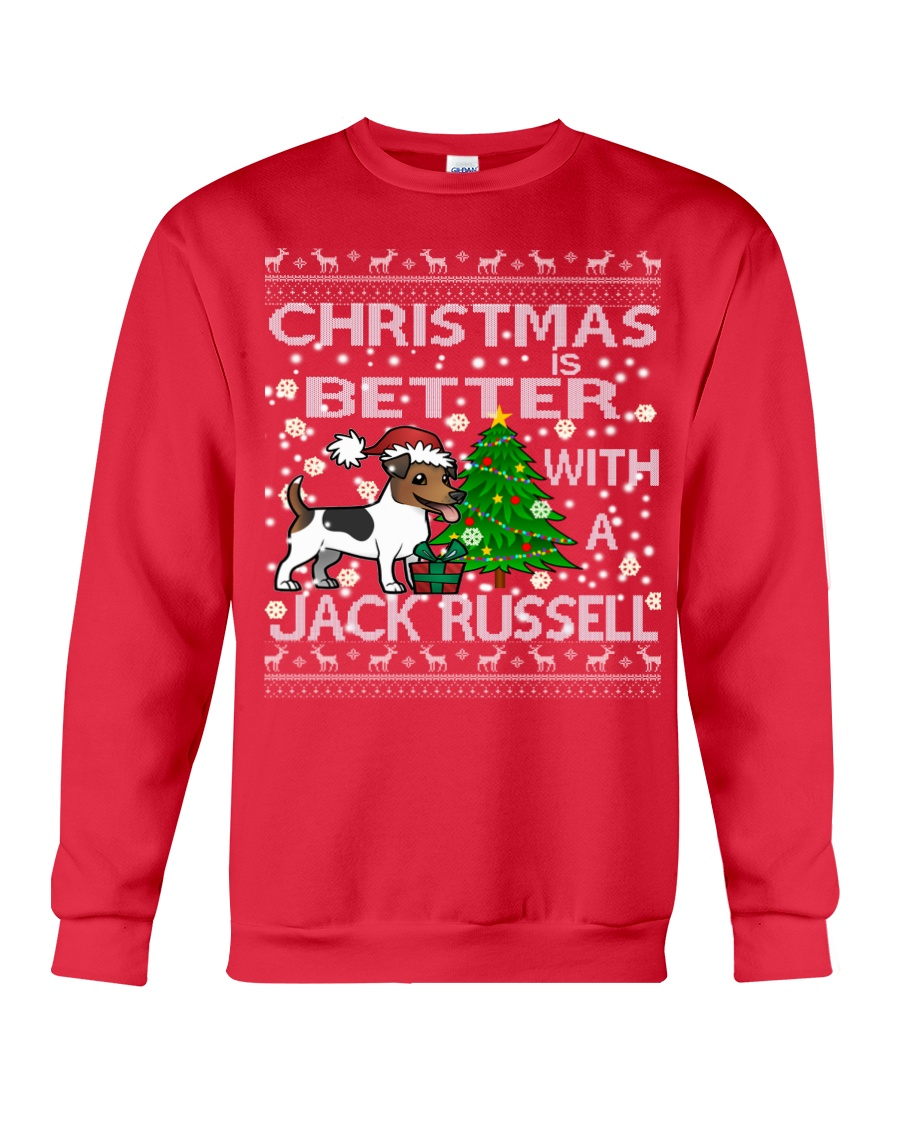 Christmas Is Better With A Jack Russell Crewneck Sweatshirt