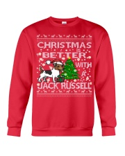 Christmas Is Better With A Jack Russell Crewneck Sweatshirt front