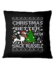 Christmas Is Better With A Jack Russell Square Pillowcase thumbnail