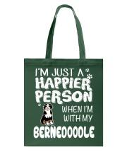 Bernedoodle Happier Person  Tote Bag thumbnail