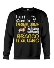 Drink Wine Bracco Italiano  Crewneck Sweatshirt thumbnail