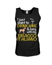 Drink Wine Bracco Italiano  Unisex Tank thumbnail