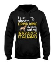 Drink Wine Bracco Italiano  Hooded Sweatshirt thumbnail