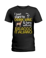 Drink Wine Bracco Italiano  Ladies T-Shirt tile