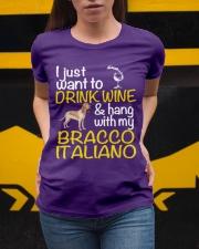 Drink Wine Bracco Italiano  Ladies T-Shirt apparel-ladies-t-shirt-lifestyle-04
