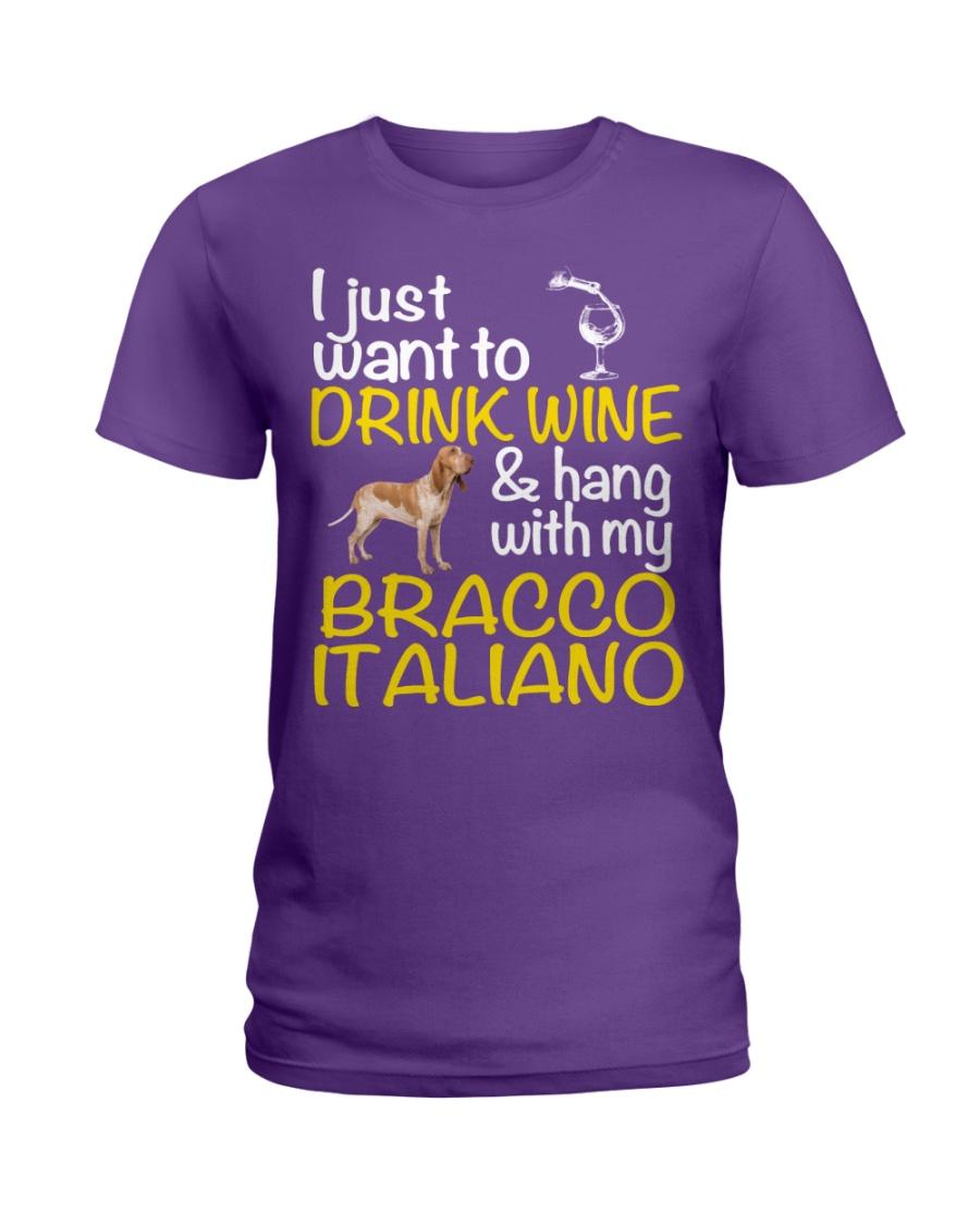 Drink Wine Bracco Italiano  Ladies T-Shirt