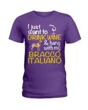 Drink Wine Bracco Italiano  Ladies T-Shirt front