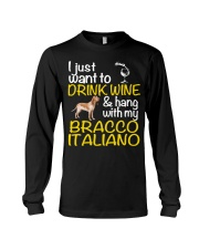Drink Wine Bracco Italiano  Long Sleeve Tee thumbnail