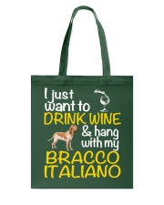 Drink Wine Bracco Italiano  Tote Bag thumbnail