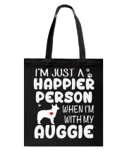 Happier Person Auggie Tote Bag thumbnail
