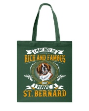 Saint Bernard Rich And Famous Tote Bag thumbnail