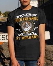 Saint Bernard Rich And Famous Classic T-Shirt apparel-classic-tshirt-lifestyle-29