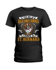 Saint Bernard Rich And Famous Ladies T-Shirt thumbnail