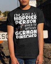 Happier Person German Pinscher Classic T-Shirt apparel-classic-tshirt-lifestyle-29