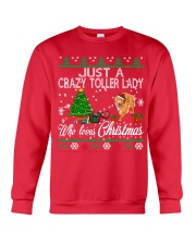 Crazy Toller Lady Who Loves Christmas Crewneck Sweatshirt front