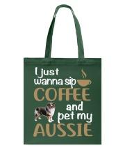Sip Coffee With My Aussie - Australian Shepherd Tote Bag thumbnail