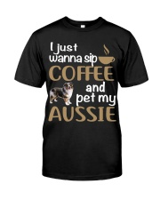 Sip Coffee With My Aussie - Australian Shepherd Classic T-Shirt thumbnail