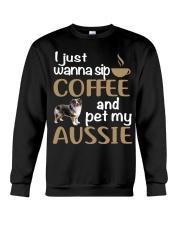 Sip Coffee With My Aussie - Australian Shepherd Crewneck Sweatshirt thumbnail