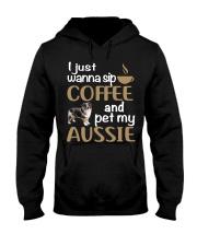 Sip Coffee With My Aussie - Australian Shepherd Hooded Sweatshirt thumbnail