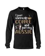 Sip Coffee With My Aussie - Australian Shepherd Long Sleeve Tee thumbnail