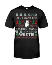 All I Want For Christmas Is My Westie Classic T-Shirt thumbnail