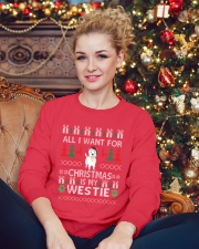 All I Want For Christmas Is My Westie Crewneck Sweatshirt lifestyle-holiday-sweater-front-2