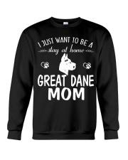 Stay At Home Great Dane Mom Crewneck Sweatshirt thumbnail