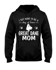 Stay At Home Great Dane Mom Hooded Sweatshirt thumbnail