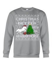 Christmas Is Better WIth An Arabian Horse Crewneck Sweatshirt tile
