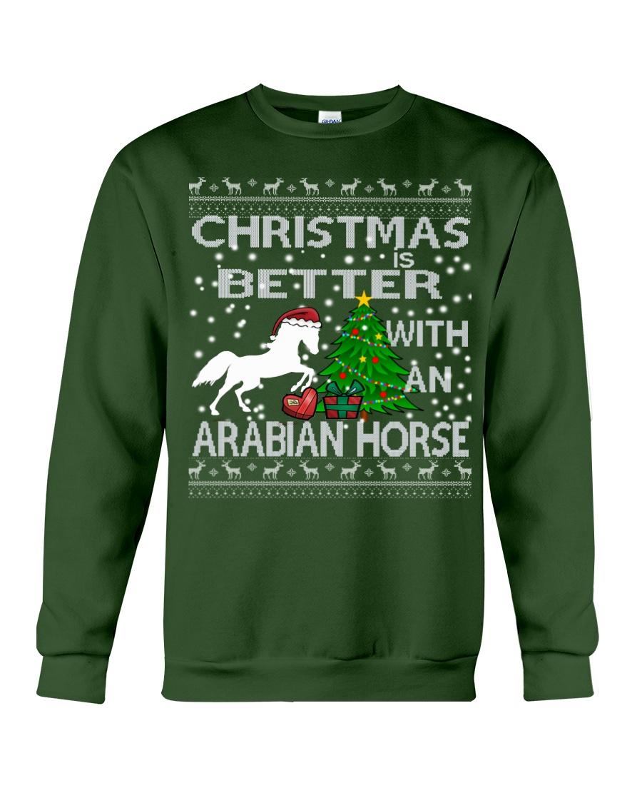 Christmas Is Better WIth An Arabian Horse Crewneck Sweatshirt
