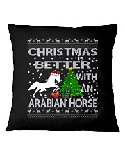 Christmas Is Better WIth An Arabian Horse Square Pillowcase thumbnail