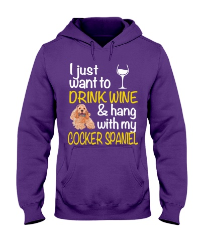 Drink Wine WIth Cocker Spaniel