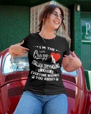 Crazy Italian Greyhound Lady Ladies T-Shirt apparel-ladies-t-shirt-lifestyle-01