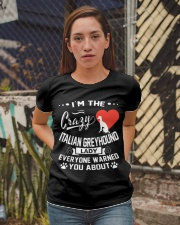 Crazy Italian Greyhound Lady Ladies T-Shirt apparel-ladies-t-shirt-lifestyle-03