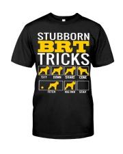 Stubborn Black Russian Terrier Tricks Classic T-Shirt front