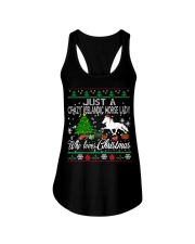 Crazy Icelandic Horse Lady Who Loves Christmas Ladies Flowy Tank thumbnail