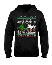 Crazy Icelandic Horse Lady Who Loves Christmas Hooded Sweatshirt thumbnail