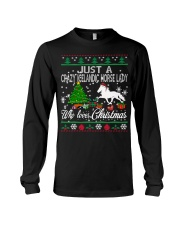 Crazy Icelandic Horse Lady Who Loves Christmas Long Sleeve Tee thumbnail