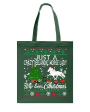 Crazy Icelandic Horse Lady Who Loves Christmas Tote Bag thumbnail