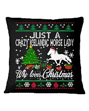 Crazy Icelandic Horse Lady Who Loves Christmas Square Pillowcase thumbnail
