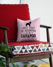This Seat Is For Cavapoo Square Pillowcase aos-pillow-square-front-lifestyle-09