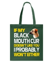 Black Mouth Cur Tote Bag thumbnail