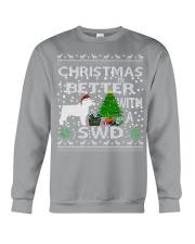 Christmas With SWD Spanish Water Dog Crewneck Sweatshirt tile