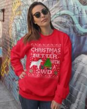 Christmas With SWD Spanish Water Dog Crewneck Sweatshirt lifestyle-unisex-sweatshirt-front-3