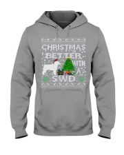 Christmas With SWD Spanish Water Dog Hooded Sweatshirt thumbnail