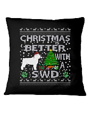 Christmas With SWD Spanish Water Dog Square Pillowcase thumbnail