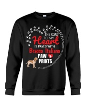 My Heart Paved With Bracco Italiano Paw Prints Crewneck Sweatshirt thumbnail